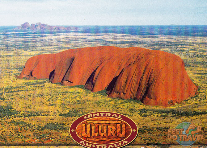 Flying into Uluru The Red Heart of Australia