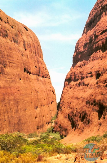 Walpa Gorge walk at Kata Tjuta The Olgas Uluru The Red Heart of Australia