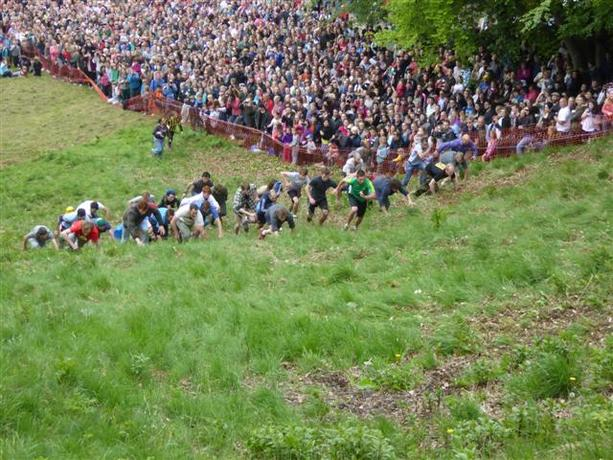 Uphill Cheese rolling?