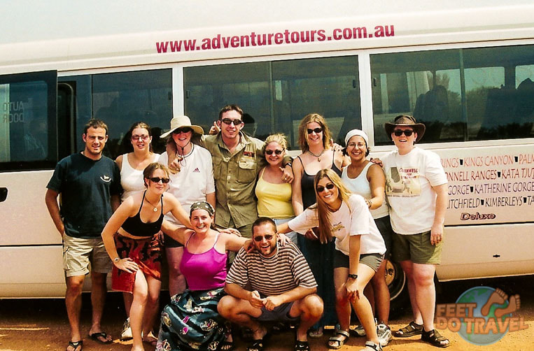 Adventure Tours bus Uluru The Red Heart of Australia