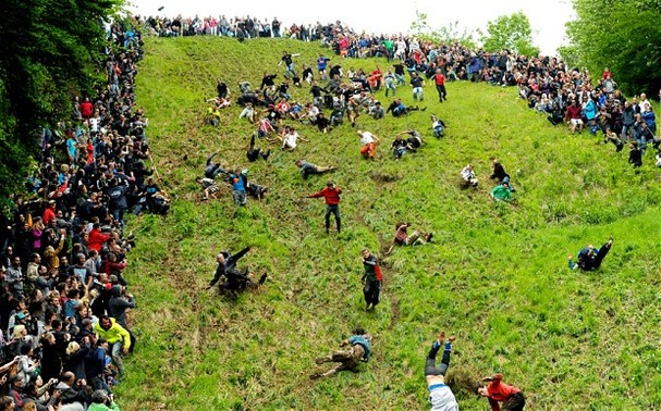 Cheese Rolling mania!