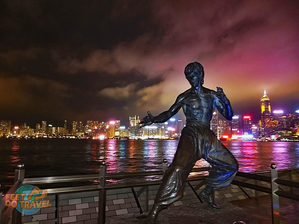 Bruce Lee's statue on the Avenue of Stars