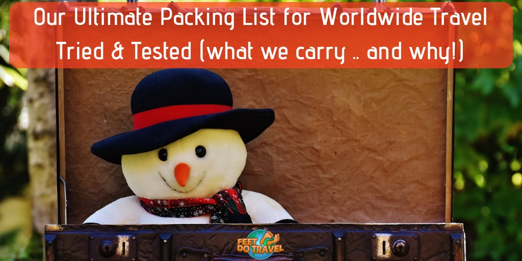 Ultimate Packing List for Worldwide International Travel, Backpacking Europe, Asia, Cruise Travel, everyday essentials, how to travel plastic free, toiletries, electronics, medication, first aid, anti theft protection, Feet Do Travel