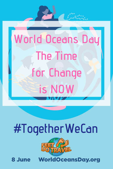 World Oceans Day is held annually on 8 June. A day for us to learn why oceans are important to humans, raise global awareness, and learn how we can protect our oceans. Feet Do Travel explain why the time for change is now. #worldoceansday #education #raiseawareness #oceanwarrior #saveourseas #saveouroceans #saveourplanet #savetheearth #savetheplanet #oceanpollution #saynotoplastic #plastickills #sustainableliving #greenliving #zerowaste #zerowasteliving #gogreen #plasticpollution #ecobrick #togetherwecan