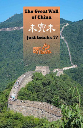 The Great Wall of China ... just a pile of bricks or is it more than that? Find out what the Feet thought