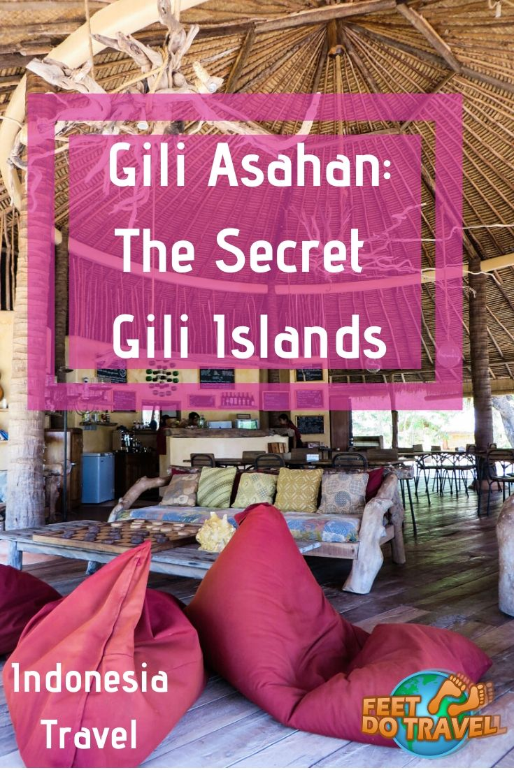 Gili Asahan, Indonesia, is one of the secret Gili Islands near #Bali and #Lombok. With a Robinson Crusoe feeling, is it a true tropical paradise island? Feet Do Travel Share their story. #gilis #giliislands #indonesia #secretilsand #travel #traveltips #traveldestinations #traveltoindonesia #balitravel #baliindonesia #baliguide #Indonesiatravel #WonderfulIndonesia #exploreindonesia #visitindonesia #travelguide #indonesiatravelguide #summertravel