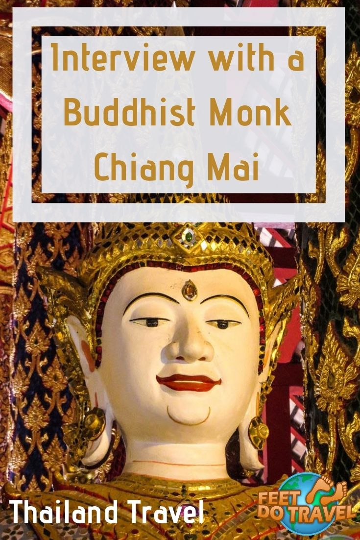 When in Chiang Mai, Thailand, Feet Do Travel had the chance to interview a Buddhist Monk. Monk Chat at Wat Suan Dock is an unusual and unique thing to do when in Chiang Mai. Let us show you how to join #monkchat in #chiangmai #thailand #temples #thingstodo #traveladvice #travelguide #traveltips #budgetravel