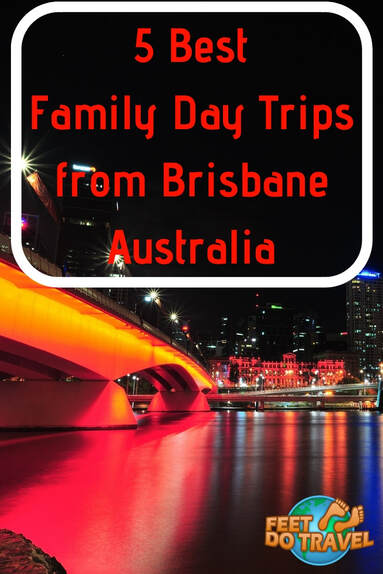 Brisbane is the capital of the Australian state Queensland, and it has many things to do for families and visitors. Often overlooked in favour of larger East Coast Cities such as Sydney or Melbourne, Feet Do Travel show you 5 best family day trips from Brisbane. #Brisbane #Australia #Queensland #oceana #thingstodo #bestguides #itinerary #travel #eastaustralia