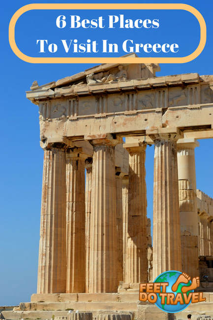 Greece is one of the world's most popular tourist destinations, thanks to its whitewashed buildings and year round warm climate. There are many islands to visit in Greece, all steeped in history and culture, so how do you choose? Feet Do Travel show you the 6 best places to visit in #Greece. #GreekIslands #Islands #Travel #Europe #Athens #Santorini #travelblog #travelblogger #traveltips #travelling #travelguides #traveladvice